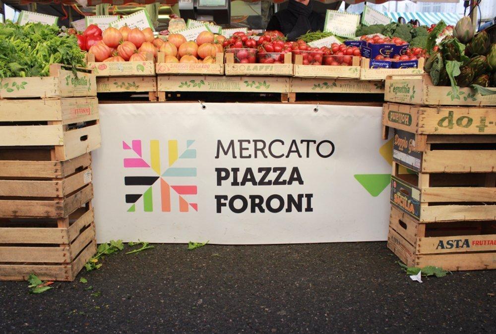 Mercato piazza Foroni. Progetto di identità visiva