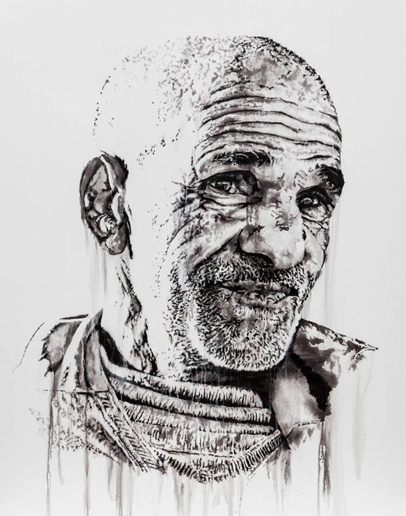 Hendrik Beikirch. Portrait of Ahmed-Kartawa a shepherd. (photo © Hendrik Beikirch)