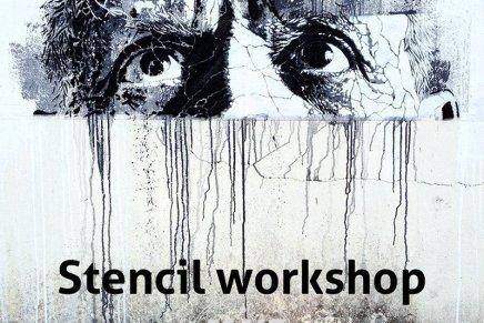 Workshop di stencil.  Joao Samina a Bergamo
