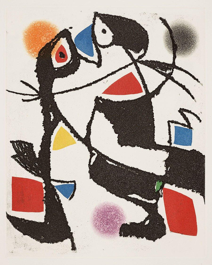 -Joan MirÛ, Le Marteau sans maÓtre, 1976, acquaforte, foglio: cm 47,3x36,1