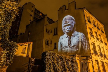 Urban safari a Parigi. Il video mapping di Julien Nonnon