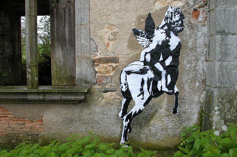 WK_Blek le Rat_Le Centaur_Chateau de Bagnac_2003_©Sybille Prou_designplayground