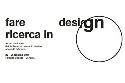 """""""Fare ricerca in design"""", seconda edizione"""