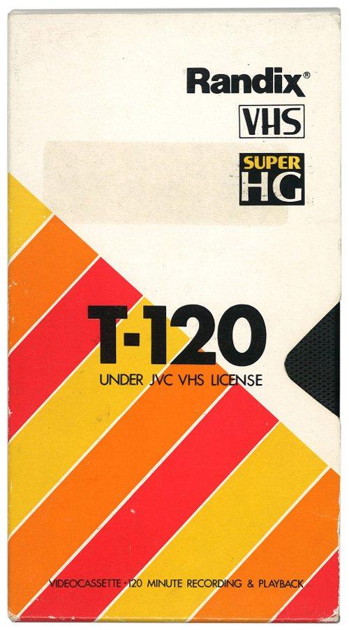 1985 — 1995 - T-120 VHS cassette by Randix