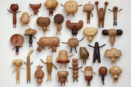 Le creature in legno di Yen Jui-Lin