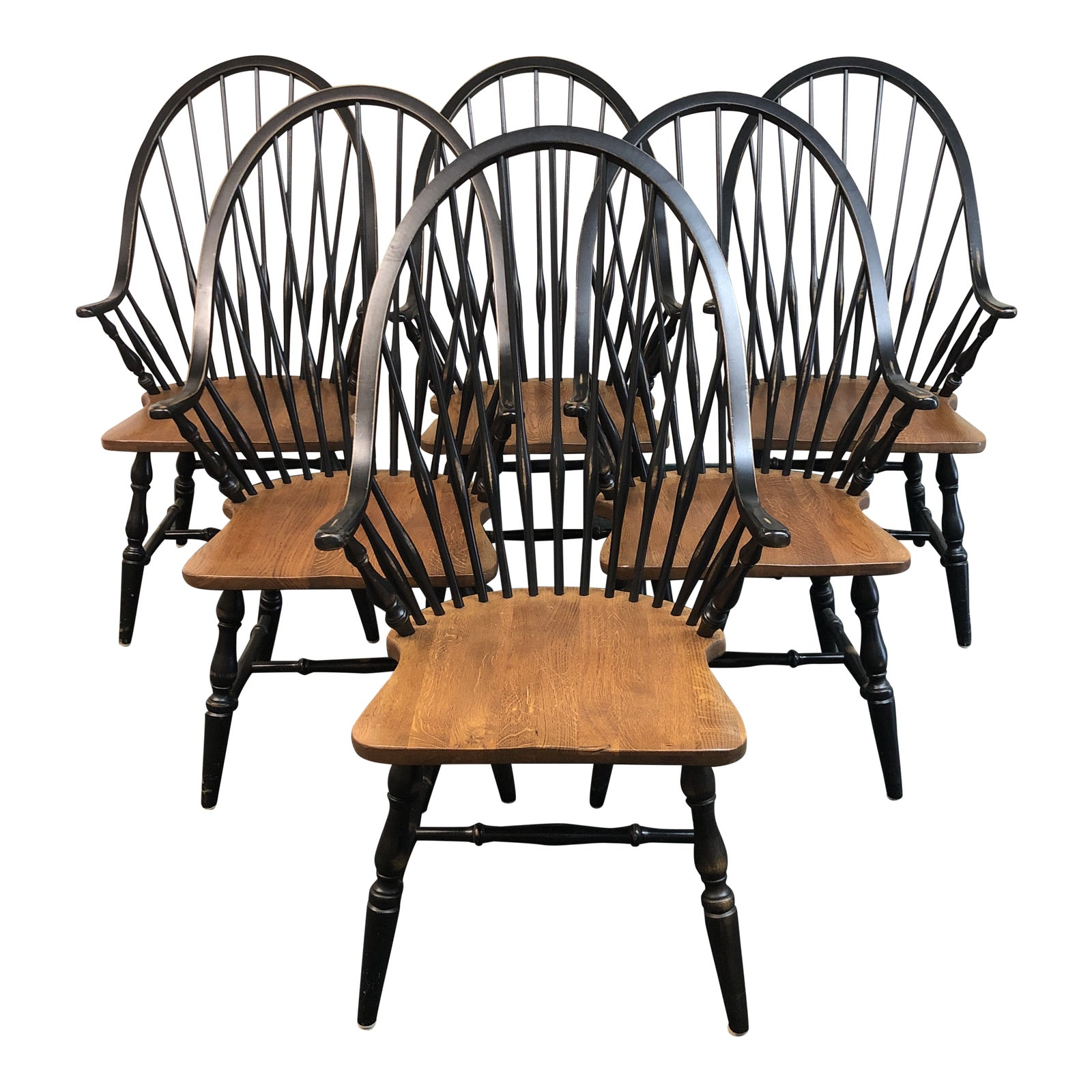 Intercon Black Windsor Dining Chairs Set Of Six Design Plus Gallery