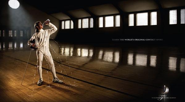 Learn the world's original contact sport. Print Ad