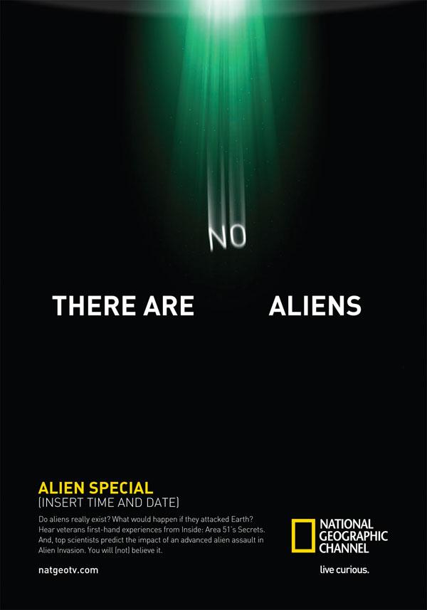 There are no Aliens Print ad
