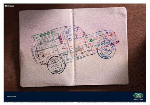 Land Rover Defender Print ad