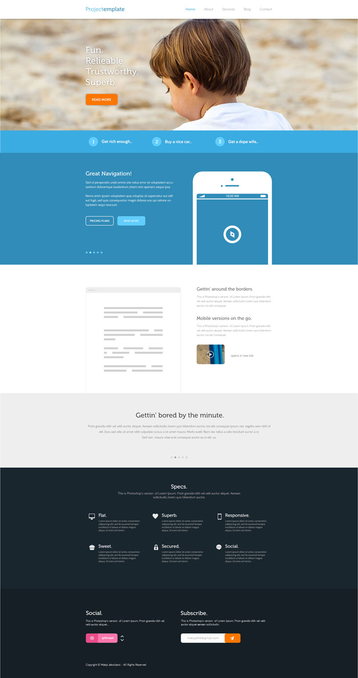 Project Flat Web Design Inspiration
