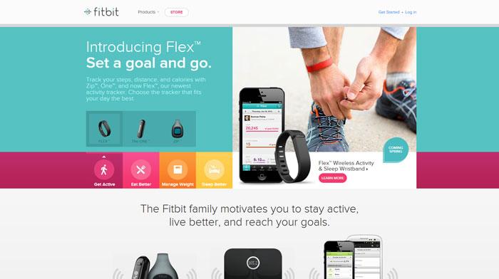 fitbit.com Flat Web Design Inspiration