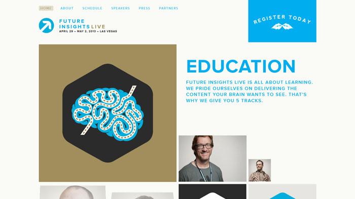 futureinsightslive.com Flat Web Design Inspiration