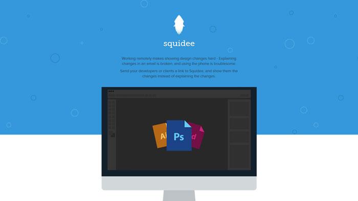 squidee.co Flat Web Design Inspiration