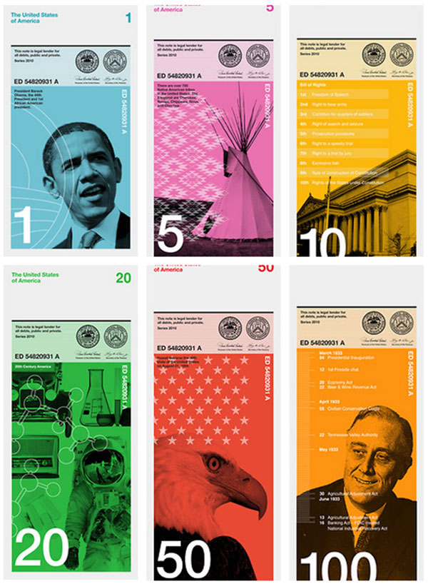 What If? U.S. Currency of the Day Print Design Inspiration