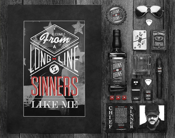 Sinners Print Design Inspiration
