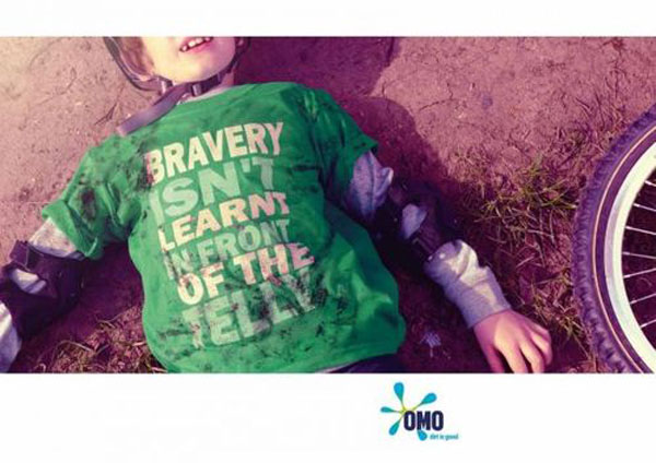 Bravery isn't learnt in front of the telly Print Advertisement