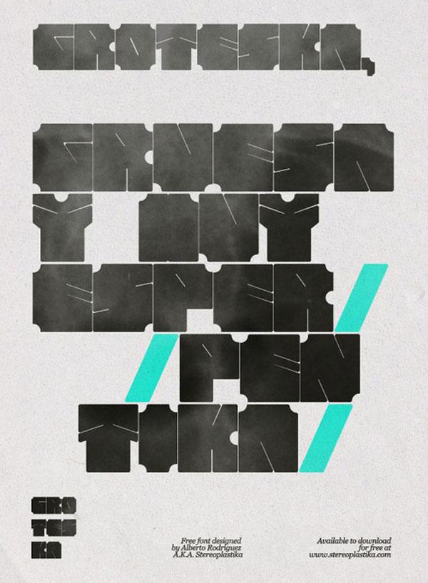 Groteska™ Free Typeface Spanish Design Inspiration