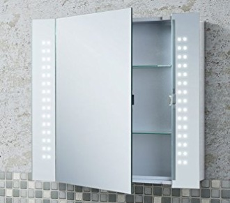bathroom cabinets with led lights - interior design