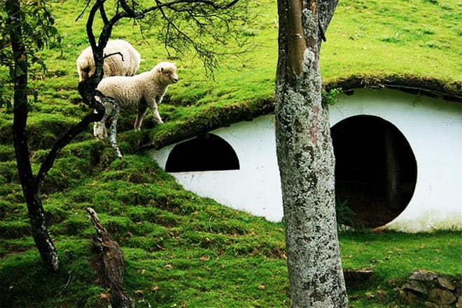 "Abandoned Hobbiton from ""Lord Of The Rings"" taken over by sheep    DesignRulz.com"