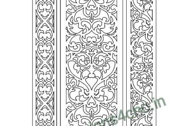 Cnc door jali designs dxf file