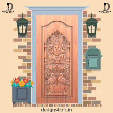 022 ganesha on main door design Rlf file