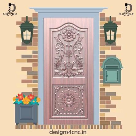 038 Modern Door design Rlf file For Artcam
