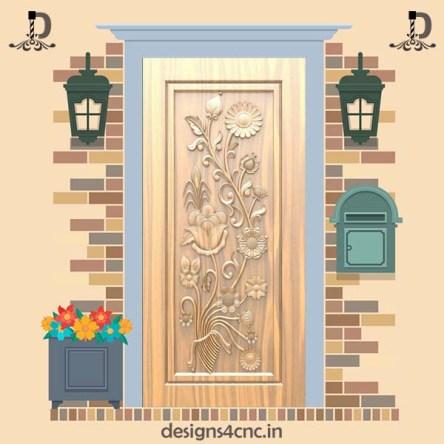 039 Modern Door design Rlf file For Artcam