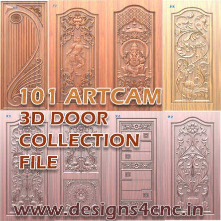 100+ Door Collection design Artcam file