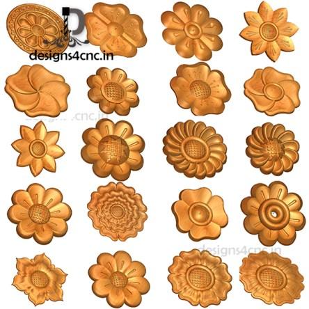 200+ ARTCAM FLOWERS COLLECTION FILE