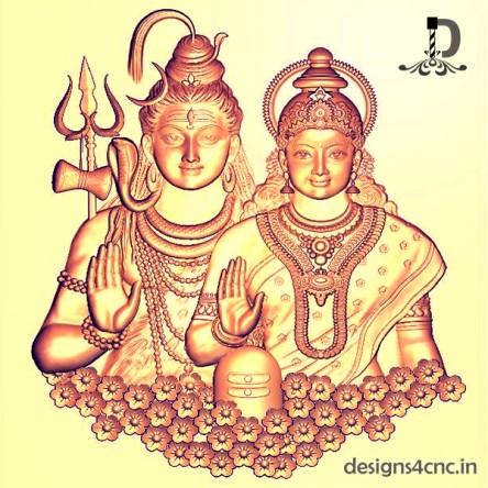 Shiv Parvati hd wallpaper 3D Model File 2021