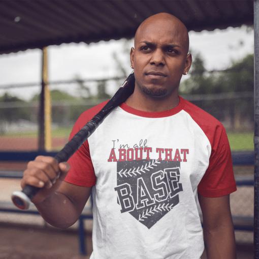 All About That Base Baseball Softball Sports T-Shirt Design