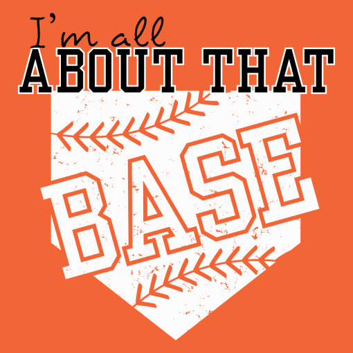 All About That Base Shirts   Baseball Softball Sports T-Shirt Design