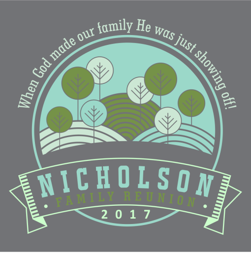 Family Reunion T Shirts - God Showing Off Custom Design Template 1