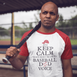 Keep Calm Baseball Dad Sports T-Shirt Design