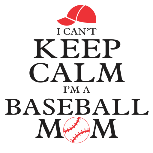 Keep Calm Baseball Mom Shirt Sports T-Shirt Design