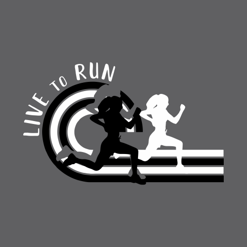 Girls Running T Shirt Template | Track & Field Live To Run Custom T-Shirt Design Template
