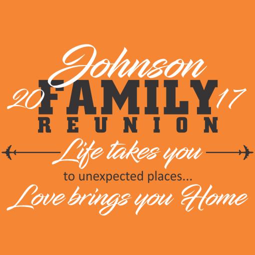 Love Brings You Home Family Reunion Shirts | Custom T-Shirt Design Template