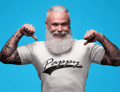 Finest Pappy Grandfather Baseball Tail T-Shirt Design