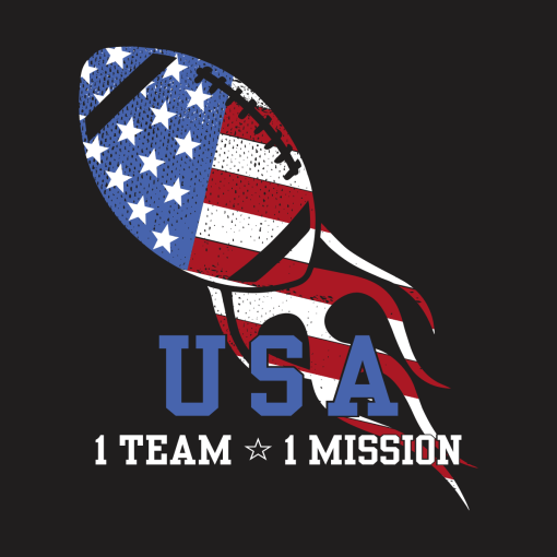 Patriotic Football T Shirt Design USA America Team Mission July 4th T-shirt Design