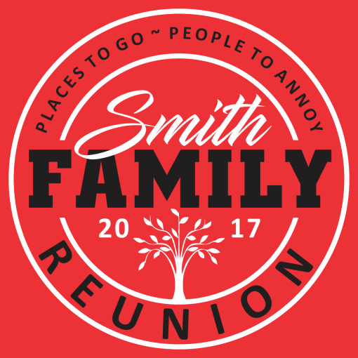 People to Annoy Family Reunion T Shirt Design Template