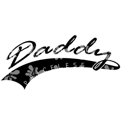 Priceless Daddy T Shirt Design – Daddy SVG Baseball Tail Design