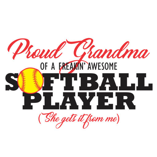 Proud Grandma Softball Shirts   Sports T-Shirt Design