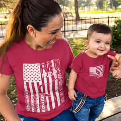 RED Friday Shirts American FLAG US Military Support T-Shirt Design