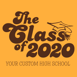 Retro Seniors Graduation Class of 2020 Shirts Custom T-Shirt Design Template