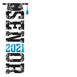 Senior T Shirt Design - Class of 2021 - Ready-to-Print Design