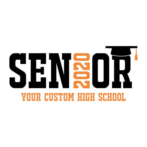 Senior 2020 Logo Templates | Class Year School Graduation Custom T-Shirt Design Template