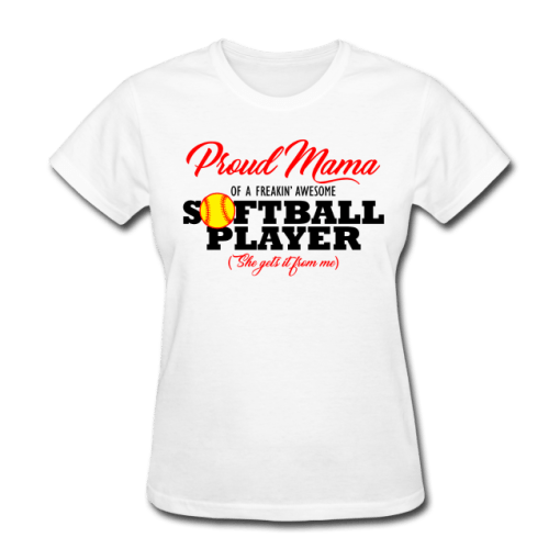 Proud Mama Softball Mom Sports T-Shirt Design
