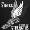 Struggles & Strengths Track and Field shirt designs Running Wings T-Shirt Design
