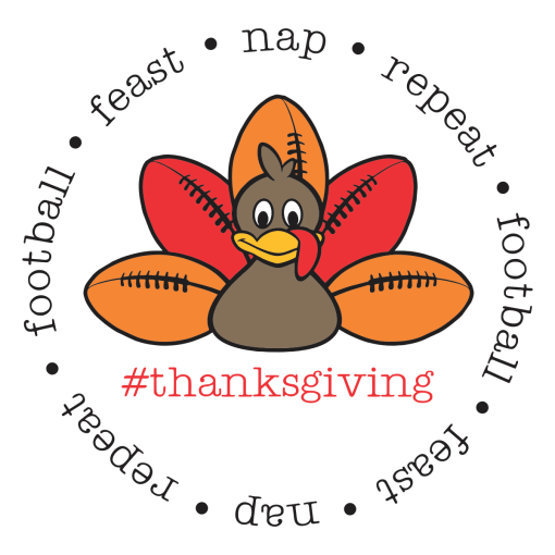 #Thanksgiving T-shirt print design football feast nap repeat - free t-shirt design downloads
