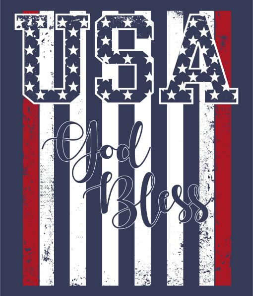 God Bless USA Shirts | American Flag Patriotic T-Shirt Design